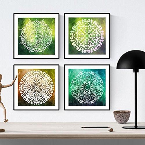 Nacnic Pack de láminas para enmarcar Equilibrio. Posters Cuadrados con imágenes de Mandalas. Decoración de hogar. Láminas para enmarcar. Papel 250 Gramos