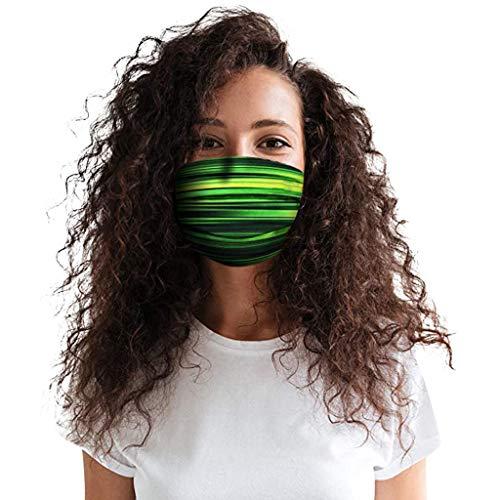 Willow S Adult Washable Flower Adjustable Cotton Breathable Cotton Face Bandanas ΜĀ𝙎Κ Everyday Face Bandanas ΜĀ𝙎Κ 5PC Green