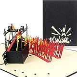 PaperCrush® Pop-Up Karte Konzert - 3D Geschenkkarte für Festival, Gutscheinkarte zum Verschenken...