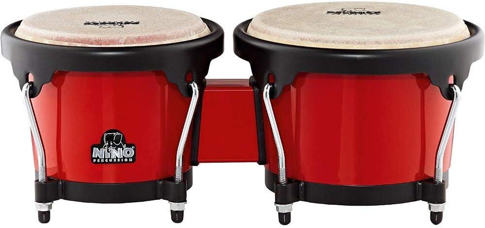 NINO ABS Bongos Plus 6 1 Red Austin Mall Black Purchase 2-Inch 7 Shell Har