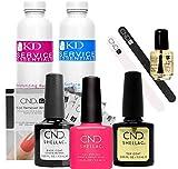 CND Shellac Starter Kit Top, Base, Essential e Pink Bikini