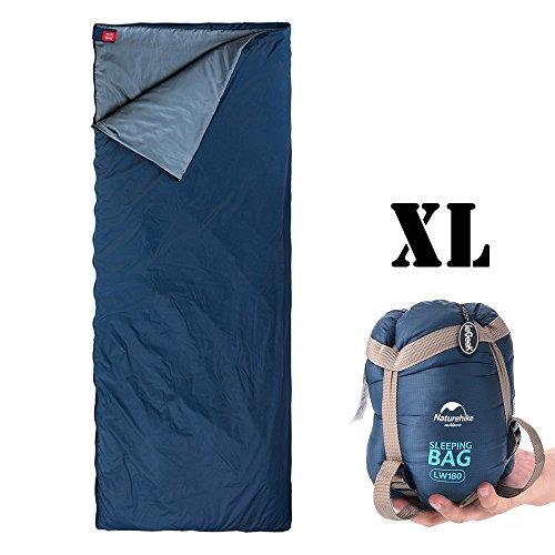 ieGeek Camping Schlafsack, Wasserdicht Extra-Breit 3 Season Outdoor Schlafsack, Warm Reiseschlafsack für Camping Reisen Wandern Rucksackreisen für Kinder, Jugendliche und Erwachsene(XL:205 X 85cm)