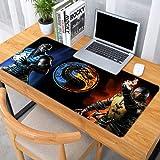 Jocmy Alfombrilla de ratón XXL 900 x 400, juego Mortal Kombat Alfombrilla de ratón grande Anime para ratón de gran tamaño, accesorios de ordenador, suministros de oficina (juego 1,800 x 300 x 3 mm)