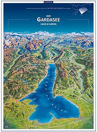 KOMPASS Panorama Der Gardasee, Lago di Garda, Poster (KOMPASS-Panoramakarten, Band 373)
