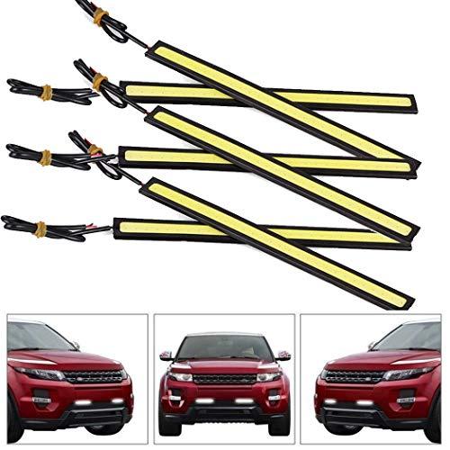 6PCs Universal Waterproof Car Trucks Daytime Running Light Lamp Super Bright 12V LED Strips COB Car Led Fog Light