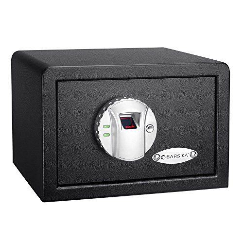 8. BARSKA AX11620 Biometric Fingerprint Mini Security Home Safe Box