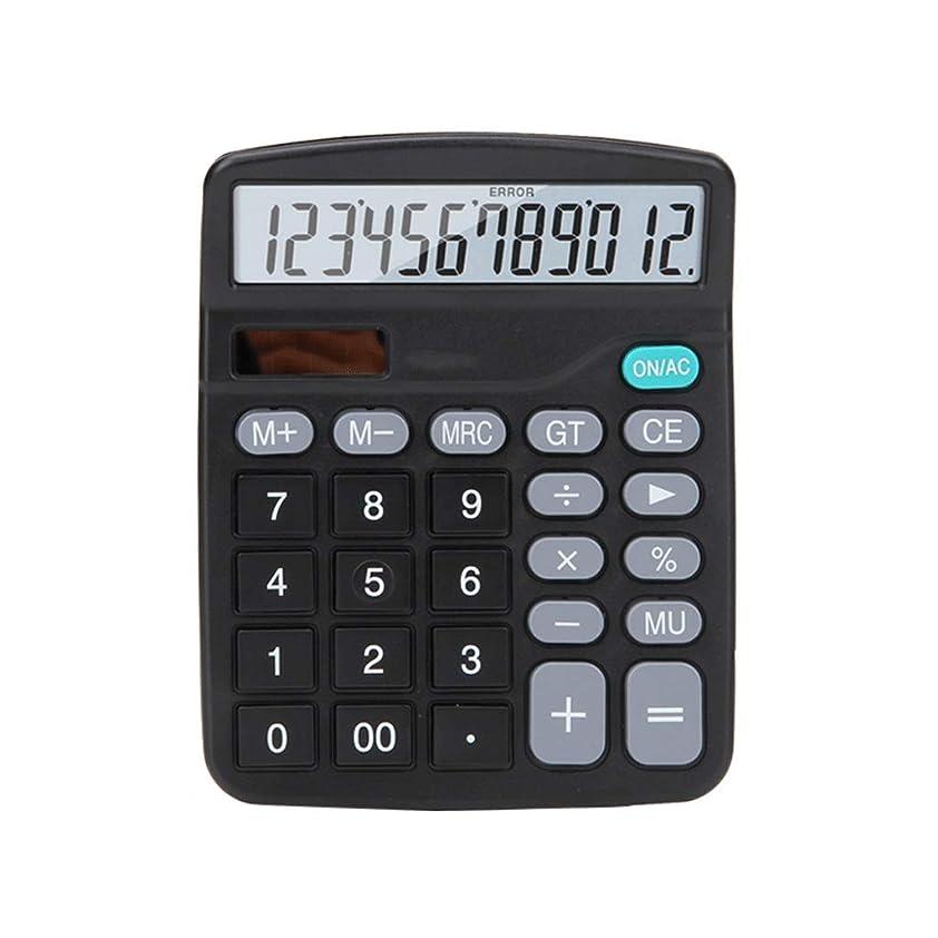 メロンコインランドリー拮抗する事務所 12ビットLEDスクリーンHDディスプレイクリア保護アイ電卓ソーラーデュアルパワーオフィス財務会計電卓 算数