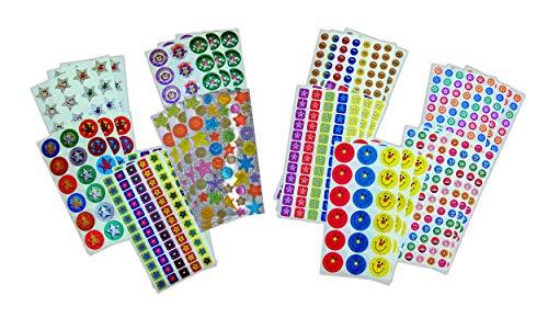 Sticker Solutions estrellas y sonrisas pegatinas de recompensa (Pack de 1332)