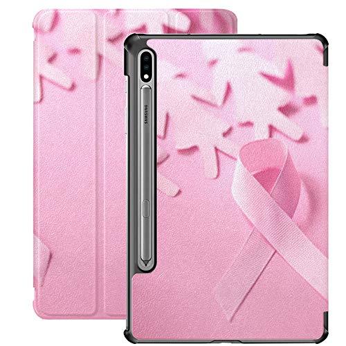 Pink Ribbon Breast Cancer Awareness Funda Samsung Galaxy Tab S7 para Samsung Galaxy Tab S7 / s7 Plus Funda Samsung Galaxy S7 con Soporte Funda Trasera Samsung Tab A Funda para Galaxy Tab S7 11 pulgad
