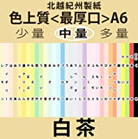北越紀州色上質A6Y<最厚口>[白茶](800枚)