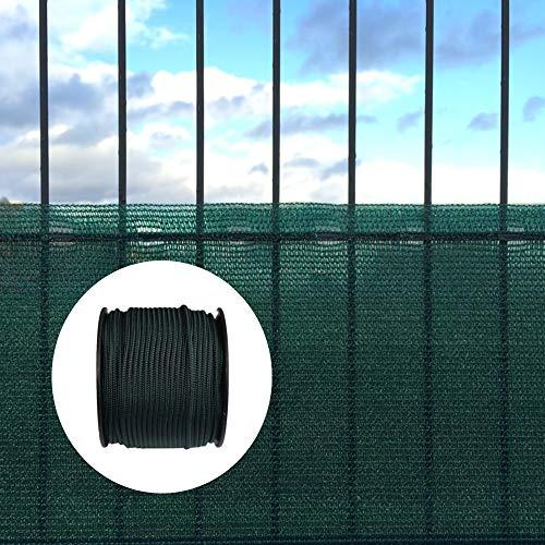 KLASEBO Filet de protection contre le vent et les regards indiscrets avec matériel de fixation 1,2 m x 6 m avec cordon de fixation