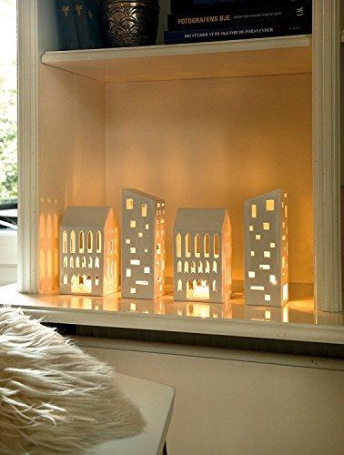 Kahler Urbania Tea Light House - Ceramic Candle Holder - Church