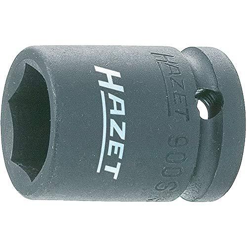 Hazet 900S-21 Douille à chocs/carré creux 12,5 mm/profil traction à 6 pans extérieurs Taille 21 longueur 40 mm