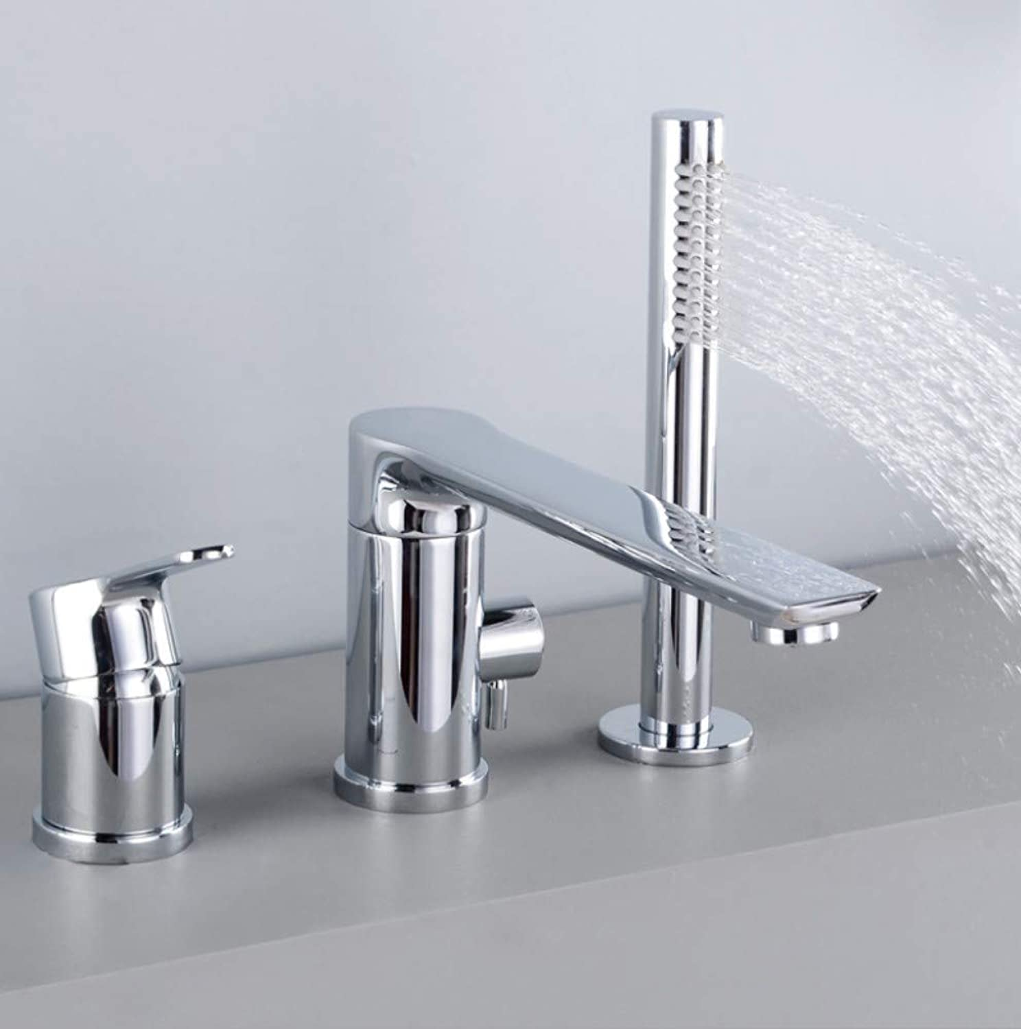 Bathroom Sink Basin Lever Mixer Tap Copper Concealed Three Or Four-Hole Basin Faucet Into The Wall Cold and Hot Water Faucet Concealed Platform Basin Faucet Bathtub Three Or Four Sets