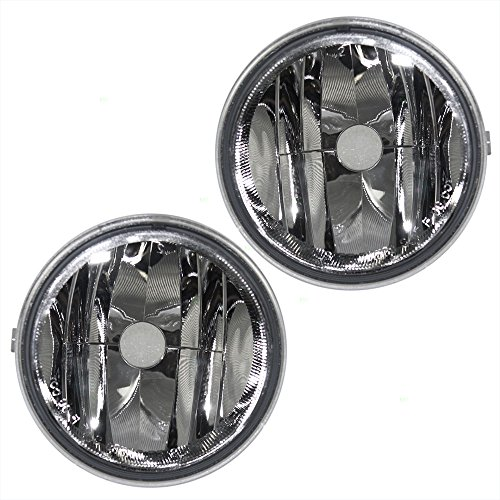 Fog Lights Round Lamps Driver and Passenger Replacements for Ford F150 F-150 Lincoln Mark LT Pickup Truck AL3Z15201A AL3Z15200A