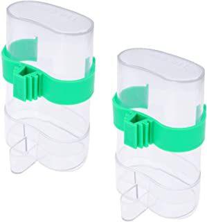 Balacoo Dispensador Automático de Agua de Alimentos para Jaulas Contenedor de Botellas de Agua Dispensador de Alimentos Al...