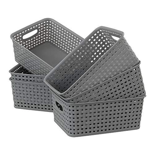 Neadas Aufbewahrungskörbe Klein Geflochten für Badezimmer Küche Organizer, 6 Stück