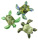 Curious Minds Busy Bags Set of 3 - Turtle Sand Filled Animal Toy - Heavy Weighted Sandbag Animal Plush Bean Bag Toss - Shimmering Glitter
