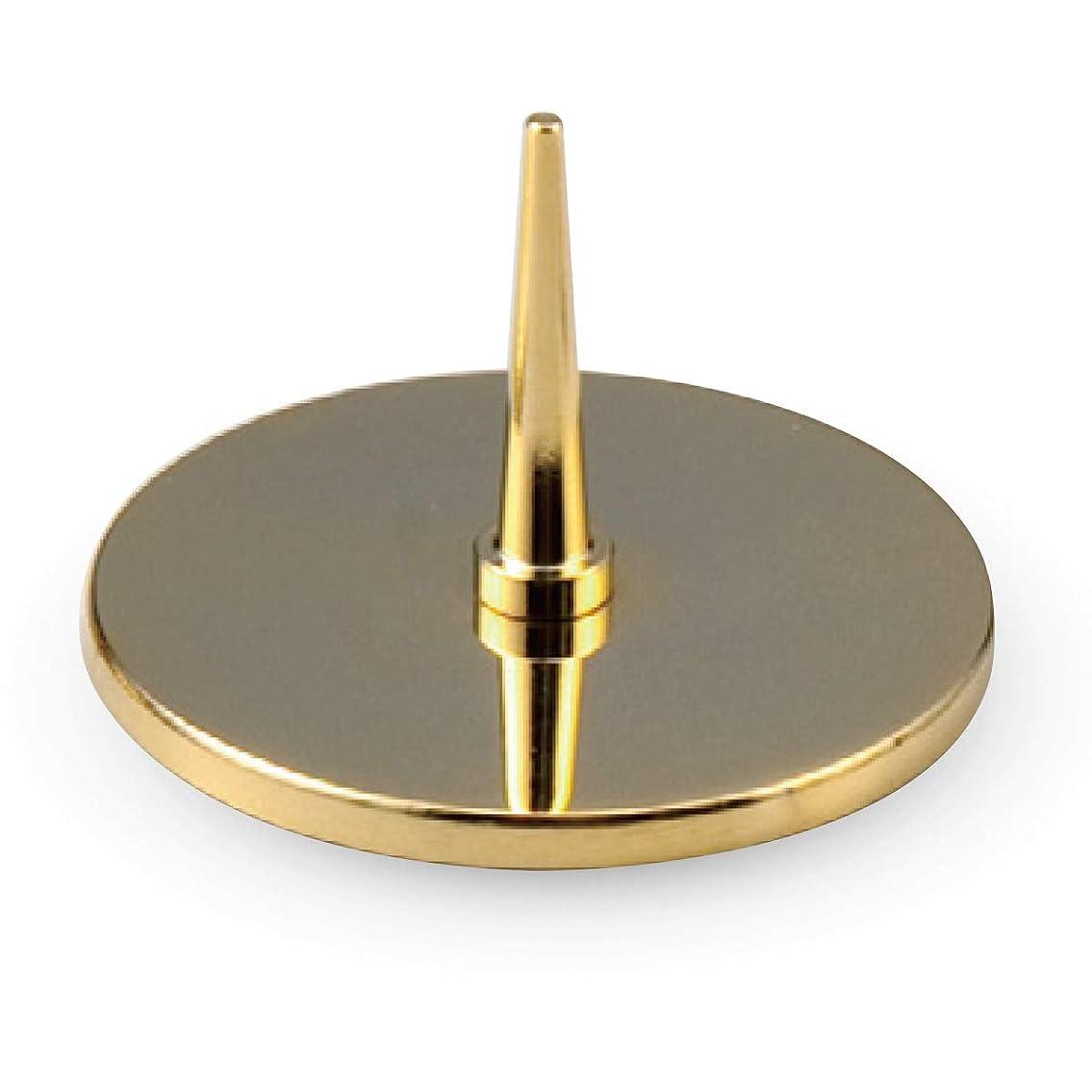 一忌避剤何もない花浪漫工房 燭台 金 Φ3.9x2.6cm 仏壇用 ミニステンレスろーそく立て ゴールド 大