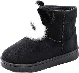 Inlefen Women's Snow Boots Cartoon Booties Flat Heel Non-Slip Rubber Sole Boots