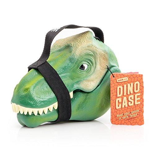 SUCK UK   Dinosaurier-Federmappe, Kunststoff, green, 23.5 x 16.5 x 12.5 cm