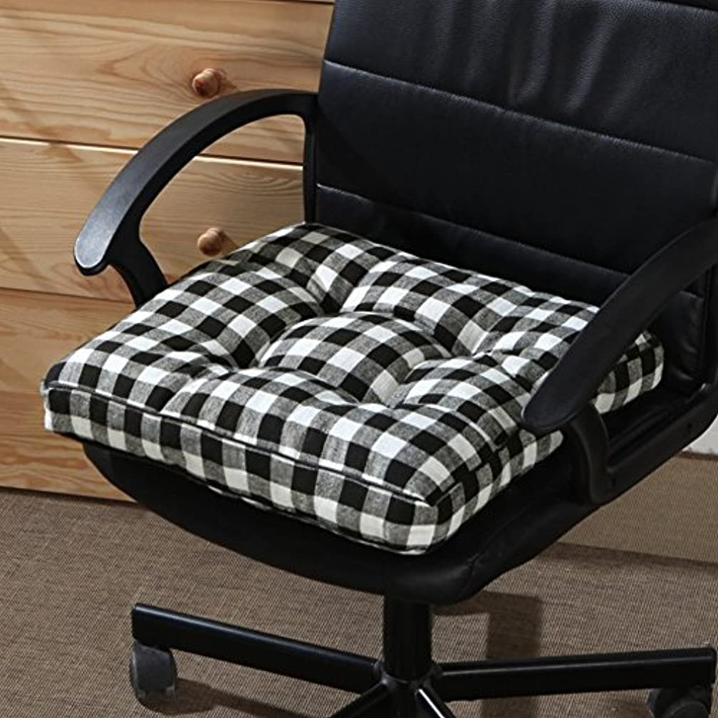 DULPLAY Non-Slip Chair Pads,100% Cotton Seat Cushioning Cleans Easily Soft Indoor Tatami Cushions,Floor seat for Wheelchair, Office & car -L 45x45cm(18x18inch)