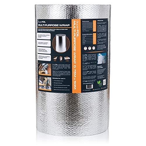 SuperFOIL SFBA Bubble Foil Insulation (1 Roll,...
