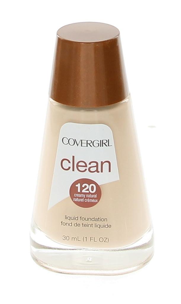 喜んで警告染色COVERGIRL 清浄な液体メイクアップファンデーション、クリームナチュラル[120] 1オンス(6パック)