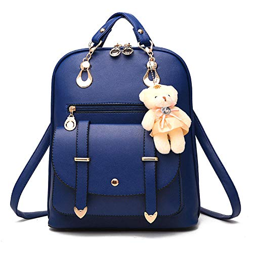 Korean casual women's backpack fashion multi-function travel backpack@CC double arrow backpack