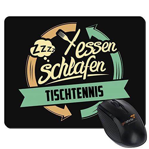 getshirts - RAHMENLOS® Geschenke - Mousepad - Sport Tischtennis - schwarz uni