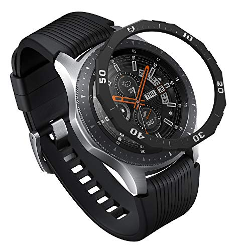 Ringke Bezel Styling para Galaxy Watch 46mm / Galaxy Gear S3 Frontier y Classic Bisel Ring Adhesive Cover Anti Scratch Protección de Acero Inoxidable [Inoxidable] para Galaxy Watch Accesorio GW-46-46