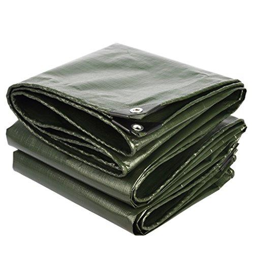 LQq-Bâches Bâche solaire imperméable de polyéthylène de bâche avec la couche protectrice de haute qualité, appropriée au manteau de course extérieur de manteau, vert d'armée + gris argenté, épaisseur