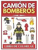 Camión de bomberos Libro de Colorear: Libro de actividades para niños