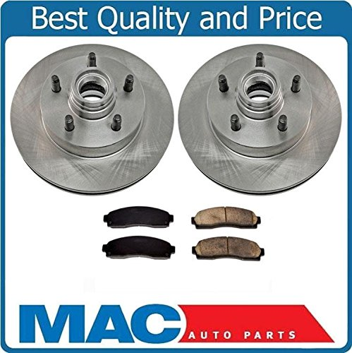 Front Disc Brake Rotors Pads Fits For 03-11 Ford Ranger Rear Wheel Drive With 4 Wheel ABS Brakes