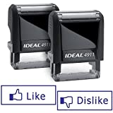 Pair of LIKE/DISLIKE Facebook Ideal 50 Self-inking Rubber Stamps