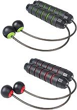 Abaodam 2 paar touwloze springtouw gratis touw gewogen springtouw draagbare workout oefening apparatuur voor thuiskantoor ...
