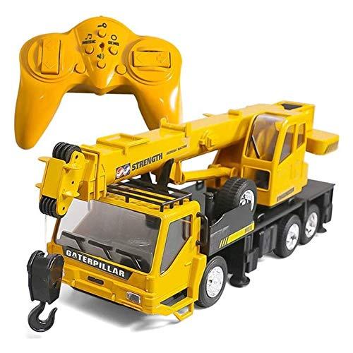 YLJYJ Control Remoto Camión Grúa Elevación Grúa Torre Coche eléctrico Coche RC Niños y niñas Cargador Bulldozer Excavadora Camión volquete (Coche RC)