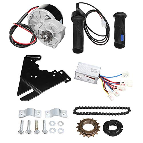 TOOGOO 24V 250W Elektro Fahrrad Motor Umbausatz Elektro Fahrrad Naben Motor Controller für 20-28 Zoll Elektro Fahrrad