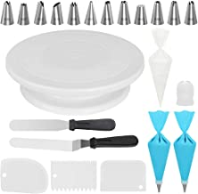 Kootek Cake Decorating Kits Supplies with Cake Turntable, 12 Numbered Cake Decorating Tips, 2 Icing Spatula, 3 Icing Smoot...