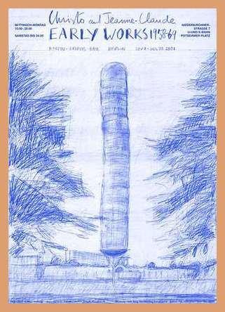 Germanposters Christo Documenta Kassel (1968) Poster Kunstdruck mit Holz Rahmen in Buche Natur