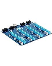 PCI-E X1 TO 4PCI-E X16 Kit di espansione da 1 a 4 porte PCI Express HUB Switch Multiplier Riser Card Cavo USB 3.0 SATA 15Pin-4Pin Cavo alimentazione per estrazione Bitcoin mercato atomico BTC Miner