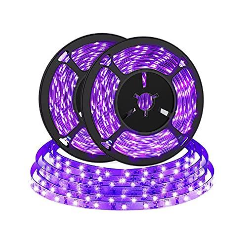 2PACK 2M UV Ruban LED, Bomcosy Bande LED Lumière Noire,Bande