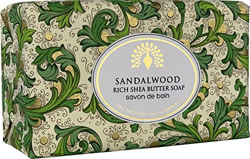 The English Soap Company, Vintage Wrapped Shea Butter Soap, Sandalwood, 200g