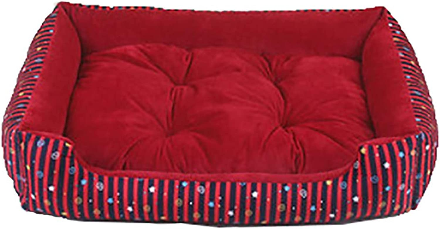 Best Cat and Dog Pet Bed,Ultra Plush Sofa Style Couch Pet Bed for Dogs & Cats, Cozy Inner Cushion for Home Easy Maintenance Dog Bed,C,M