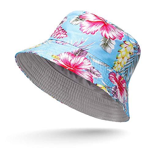 Sombrero Pescador Gorras Hombre Mujer Sombreros De Cubo para Mujer, Aleros Anchos, Wild Joker, Sombrero De Viaje para El Sol, Sombrero De Pescador, Sombrilla Unisex, Gorras De Pesca-01_56-59Cm