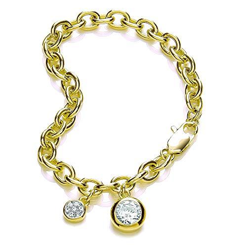 Buckley London Damen Armschmuck Messing 19cm Glänzend Kristall gelb 430060003