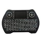Mini teclado, pantalla táctil retroiluminada, 2,4 g, tela táctil compatible con PC, Mac, X-Box y otros dispositivos Android