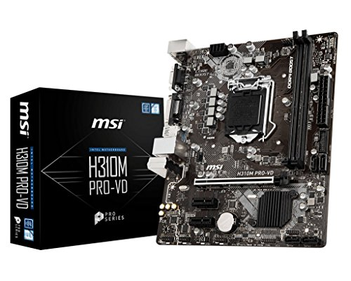 MSI Pro Series Intel Coffee Lake H310 LGA 1151 DDR4 Onboard Graphics Micro ATX Motherboard (H310M PRO-VD)