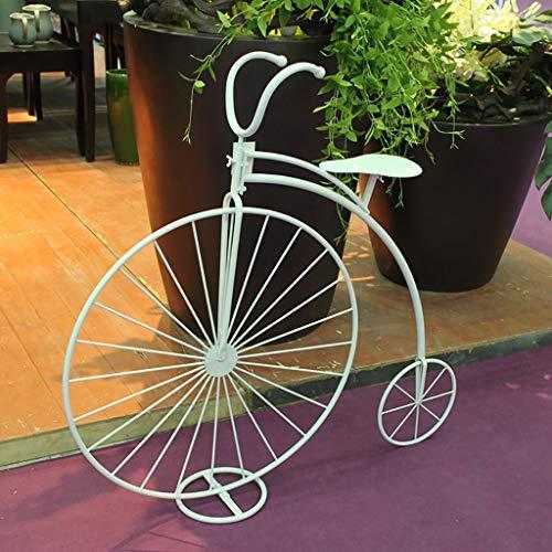 Support de fleur en métal Porte-plantes Style Bicyclette En Fer - Pour Jardins, Terrasses, Jardins D'hiver Ou À La Maison!Vélo Design 110 * 101cm
