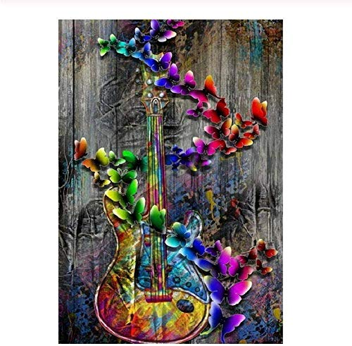 Wooden Jigsaw Puzzle 1000 Pieces,adult Children Puzzle Diy Color Guitar Wooden Puzzle Modern Home Decor Festival Gift Intellectual Game Wall Art Unique Gift Stress Reliever